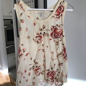 Joie Silk Blouse with Roses 🌹